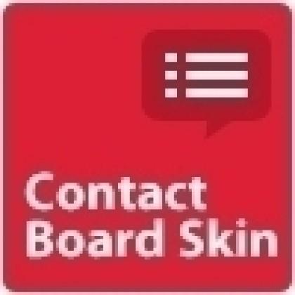 Contact 게시판스킨, 모바일 스킨