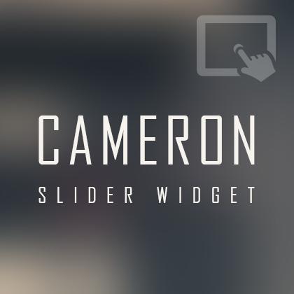 카메론 반응형 터치 슬라이더 위젯 (스킨 미포함)