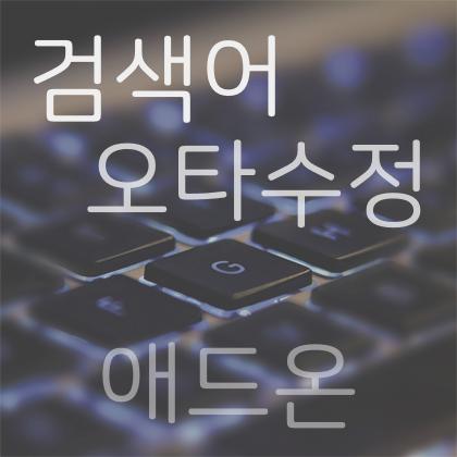 검색어 오타수정 애드온